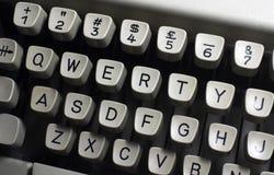 De sleutels van Qwerty Stock Afbeelding