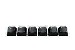De sleutels van Qwerty Stock Foto's