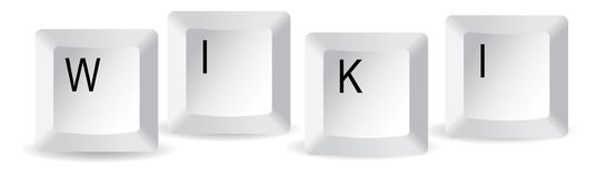 De sleutels van Wiki Royalty-vrije Stock Afbeeldingen