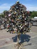 De sleutelsboom van het slot Royalty-vrije Stock Afbeeldingen