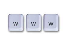 De sleutelsconcept van Www Stock Foto