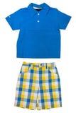 De slijtage van kinderen - overhemd en borrels Stock Fotografie