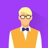 De slijtageglazen van zakenmanprofile icon nerd Stock Fotografie