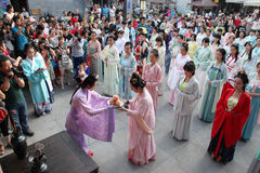 De slijtagehanfu van Chinese vrouwen Stock Afbeelding