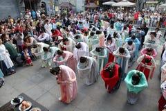 De slijtagehanfu van Chinese vrouwen Stock Afbeeldingen