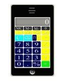 De slimme Calculator van de Telefoon Stock Foto's