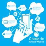 de Slimme infographic Telefoon van het aanrakingsscherm, Royalty-vrije Stock Afbeeldingen