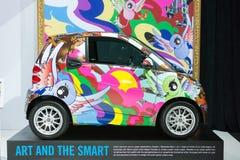 De slimme kleurenauto op vertoning bij La Auto toont. Royalty-vrije Stock Fotografie