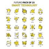De slimme Reeks van het Technologiepictogram Het gele Pak van het het Ontwerppictogram van Futuro Recentste royalty-vrije illustratie