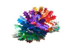 De slinger van de Kerstmisdecoratie van folie Stock Afbeeldingen