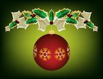 De slinger van Kerstmis met ornament Stock Illustratie