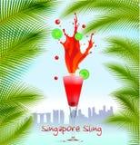 De Slingerachtergrond van Singapore Royalty-vrije Stock Foto's
