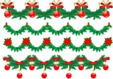 De slingers van Kerstmis vector illustratie