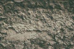 De Slopworkmuur met cementpleister schiet retro achtergrond weg Royalty-vrije Stock Fotografie