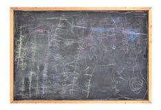 De Slordige School Zwarte Chlakboard van het gekrabbel Royalty-vrije Stock Afbeelding