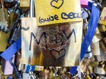 De sloten van de liefde in Parijs Royalty-vrije Stock Afbeelding