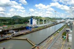 De sloten van het Kanaal van Panama Stock Afbeelding
