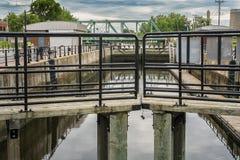 De sloten van het Lachinekanaal Stock Fotografie