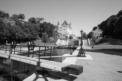 De Sloten van het Rideaukanaal in Ottawa Ontario Canada Royalty-vrije Stock Fotografie