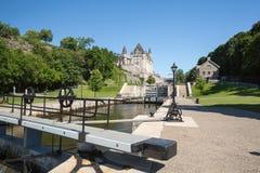De Sloten van het Rideaukanaal in Ottawa Ontario Canada Stock Afbeelding