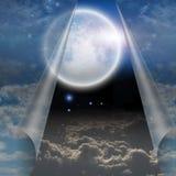 De sluier van hemel trok open om te openbaren vector illustratie