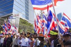 De Sluiting van Bangkok: 14 januari, 2014 Stock Foto's