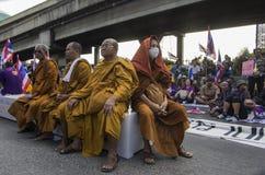 De Sluiting van Bangkok: 14 januari, 2014 Stock Afbeeldingen