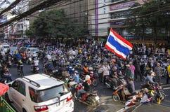 De Sluiting van Bangkok: 13 januari, 2014 Stock Foto