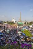 De Sluiting van Bangkok: 13 januari, 2014 Stock Afbeeldingen