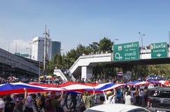 De Sluiting van Bangkok: 13 januari, 2014 Stock Foto's