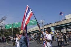 De Sluiting van Bangkok: 13 januari, 2014 Stock Afbeelding