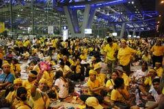 De Sluiting van de Luchthaven van Bangkok Royalty-vrije Stock Foto's