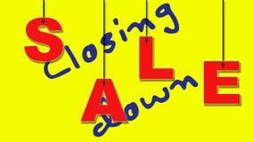 De sluiting van verkoop Stock Afbeelding