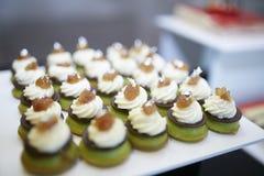 De smaak van de het Dessertlijst van de fruitroom Royalty-vrije Stock Foto's