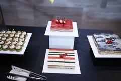 De smaak van de het Dessertlijst van het roomfruit Royalty-vrije Stock Afbeelding