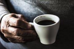De smaak van koffie stock fotografie