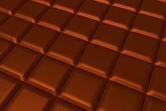 De smakelijke bruine vloeibare achtergrond van chocoladestukken, 3d illustraiton Royalty-vrije Stock Fotografie