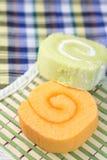 De smakelijke jam van het broodjesgebakje met twee kleuren Royalty-vrije Stock Afbeelding
