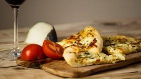 De smakelijke pizza van quatroformagi Stock Afbeelding