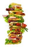 De smakelijke sandwich Stock Afbeelding