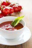 De smakelijke Soep van de Tomaat Royalty-vrije Stock Foto's