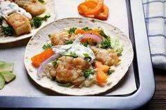 De smakelijke Taco's van Vissen Stock Afbeeldingen