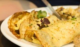 De smakelijke tortilla van de veganisttaco verpakt close-up stock foto
