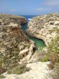 De smalle baai van Wied IL-ghasri stock fotografie
