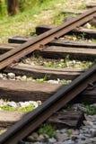 De smalle spoorweg van de Maat Stock Afbeeldingen