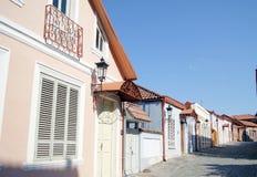 De smalle straten van Signagi Stock Foto's