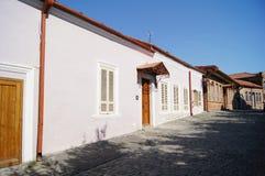 De smalle straten van Signagi Stock Foto