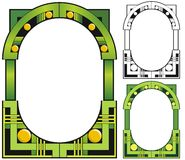 De smaragdgroene grens van het stadsart deco Royalty-vrije Stock Afbeeldingen