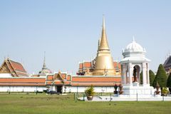 De smaragdgroene tempel is het oriëntatiepunt van de provincie van Bangkok (Thailand) Stock Afbeelding