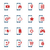 De Smartphone iconos simplemente Foto de archivo